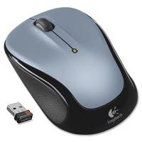 Logitech Wireless Mouse M325 - Optical - Wireless - Radio Frequency - Silver - USB - 1000 dpi - Scroll Wheel - 2 Button(s) - Symmetrical