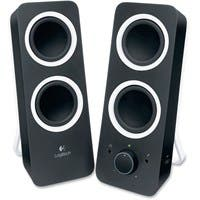 Logitech 2.0 Speaker System - Black - LED Indicator, Volume Control, Bass Control