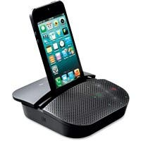 Logitech Mobile Speakerphone P710e - USB - Headphone - Black