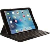 Logitech Focus Keyboard/Cover Case (Folio) for iPad mini 4 - Black - Spill Resistant, Bump Resistant, Scratch Resistant, Water Resistant - Acrylonitrile Butadiene Styrene (ABS), Polycarbonate Holder,
