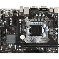 MSI H110M PRO-VD Desktop Motherboard - Intel H110 Chipset - Socket H4 LGA-1151 - Micro ATX - 1 x Processor Support - 32 GB DDR4 SDRAM Maximum RAM - 2.13 GHz Memory Speed Supported - DIMM, UDIMM - 2 x