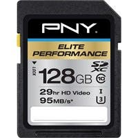 PNY Elite Performance 128 GB SDXC - Class 10/UHS-I (U3) - 95 MB/s Read