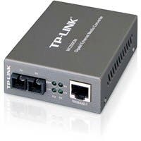 TP-LINK MC200CM Gigabit Media Converter, 1000Mbps RJ45 to 1000M multi-mode SC fiber, up to 550m/1800ft, chassis mountable - 1 x Network (RJ-45) - 1000Base-T, 1000Base-FX - External""