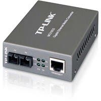 TP-LINK MC210CS Gigabit Media Ethernet Converter, 1000Mbps RJ45 to 1000M single-mode SC fiber, up to 15Km/9miles, chassis mountable - 1 x Network (RJ-45) - 1000Base-T, 1000Base-FX - External""