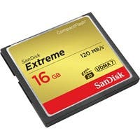 SanDisk Extreme 16 GB CompactFlash - 120 MB/s Read - 60 MB/s Write - 1 Card - 400x Memory Speed