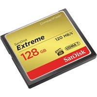 SanDisk Extreme 128 GB CompactFlash - 120 MB/s Read - 120 MB/s Write - 1 Card - 400x Memory Speed