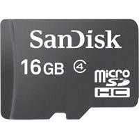 SanDisk 16 GB microSDHC - Class 4 - 1 Card