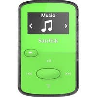 SanDisk SDMX26-008G-G46G 8 GB Flash MP3 Player - Green - FM Tuner - Battery Built-in - microSD - AAC, MP3, WMA, WAV, Ogg Vorbis, Audible, FLAC - 18 Hour
