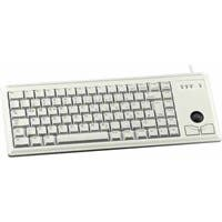Cherry Ultraslim G84-4420 Keyboard - Cable Connectivity - PS/2 Interface - 83 KeyTrackball - Built-in Mouse - Light Gray