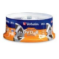 Verbatim DVD-R 4.7GB 8X with DigitalMovie Surface - 25pk Spindle - TAA Compliant - 4.7GB - 25 Pack