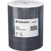 Verbatim DVD-R 4.7GB 16X DataLifePlus White Thermal Printable, Hub Printable - 100Pk Tape Wrap - Thermal Printable