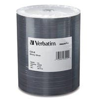 Verbatim CD-R 700MB 52X DataLifePlus Shiny Silver Silk Screen Printable - 100pk Tape Wrap Spindle - Printable - Silk-screen Printable