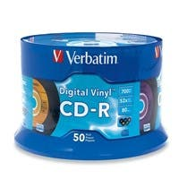 Verbatim CD-R 80min 52X with Digital Vinyl Surface - 50pk Spindle - 700MB - 50 Pack