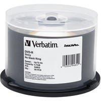 Verbatim DVD-R 4.7GB 8X DataLifePlus Shiny Silver Silk Screen Printable - 50pk Spindle - TAA Compliant - 4.7GB - 50 Pack