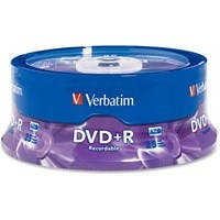 Verbatim AZO DVD+R 4.7GB 16X with Branded Surface - 25pk Spindle - TAA Compliant - 2 Hour Maximum Recording Time