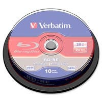 Verbatim BD-RE 25GB 2X with Branded Surface - 10pk Spindle Box - TAA Compliant - 25GB - 10pk Spindle