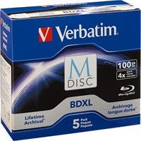 Verbatim Blu-ray Recordable Media - BD-R XL - 4x - 100 GB - 5 Pack Jewel Case - TAA Compliant - 120mm