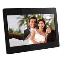 "Aluratek Digital Frame - 14"" LCD Digital Frame - Black - 1366 x 768 - Cable - Slideshow, Clock, Calendar - Built-in 512 MB - USB - Desktop"