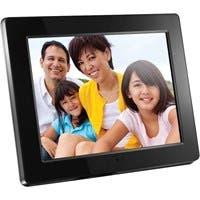 "Aluratek ADMPF512F Digital Frame - 12"" LCD Digital Frame - Black - 800 x 600 - Cable - 16:9 - JPEG - Slideshow - Built-in 512 MB - Built-in Speaker - USB - Wall Mountable, Desktop"