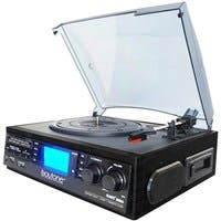 boytone Home Turntable System BT-19DJB-C - Belt Drive - 33.3, 45, 78 rpm - SD, Analog Magnetic - Black