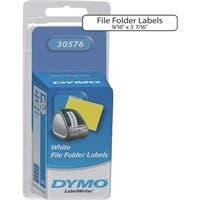 "Dymo File Folder Labels - 0.56"" Width x 3.44"" Length - White - 130 Label"