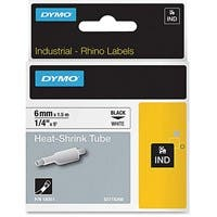 "Dymo Heat Shrink Tube Label - 0.25"" Width x 60"" Length - Thermal Transfer - White - Polyolefin - 1 Each"