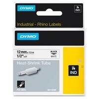 "Dymo White Heat Shrink Tube - 0.47"" Width x 59.06"" Length - Thermal Transfer - White, Black - Vinyl - 1 Each"
