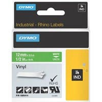 "Dymo White 0n Green Color Coded Label - Permanent Adhesive - ""0.50"" Width x 18.04 ft Length - Thermal Transfer - Green - Vinyl"