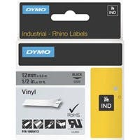 "Dymo Black on Gray Color Coded Label - Permanent Adhesive - ""0.50"" Width x 18.04 ft Length - Thermal Transfer - Gray - Vinyl"