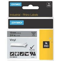 "Dymo Black on Gray Color Coded Label - Permanent Adhesive - ""0.75"" Width x 18 ft Length - Thermal Transfer - Gray - Vinyl"