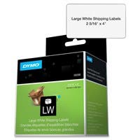 "Dymo Shipping Label - 2.31"" Width x 4"" Length - 300 / Roll - Rectangle - Direct Thermal - White"