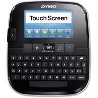 """Dymo LabelManager 500TS Touch Screen Label Maker - 0.79 in/s Mono - 300 dpi - Tape, Label - 0.25"""", 0.50"""", 0.75"""", 1"""", 0.37"""" - LCD Screen - Battery, Power Adapter"""