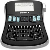 """Dymo LabelManager 210D Thermal Printer - Thermal Transfer - 180 dpi - Label, Tape - 0.35"""", 0.47"""", 0.75"""" - Battery, Power Adapter - 6 Batteries Supported - AA - Battery Included - Black"""