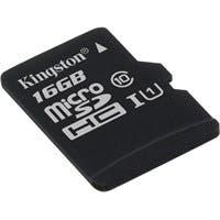 Kingston 16 GB microSDHC - Class 10/UHS-I (U1) - 45 MB/s Read - 10 MB/s Write1 Pack