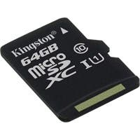 Kingston 64 GB microSDXC - Class 10/UHS-I (U1) - 45 MB/s Read - 10 MB/s Write1 Pack