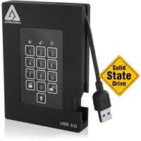 Apricorn Aegis Padlock A25-3PL256-S256F 256 GB External Solid State Drive - USB 3.0 - 8 MB Buffer - 180 MB/s Maximum Read Transfer Rate - 180 MB/s Maximum Write Transfer Rate - Portable