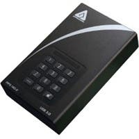 "Apricorn Aegis Padlock DT FIPS ADT-3PL256F-4000 4 TB 3.5"" External Hard Drive - USB 3.0 - 7200rpm - 8 MB Buffer - Desktop - Black - 1 Pack"
