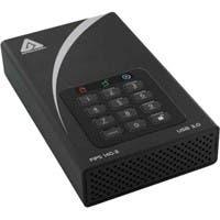 "Apricorn Aegis Padlock DT FIPS ADT-3PL256F-3000 3 TB 3.5"" External Hard Drive - USB 3.0 - 7200rpm - 8 MB Buffer - Desktop"