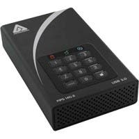 Apricorn Aegis Padlock DT FIPS ADT-3PL256F-2000 2 TB External Hard Drive - USB 3.0 - 7200rpm - 8 MB Buffer - Desktop