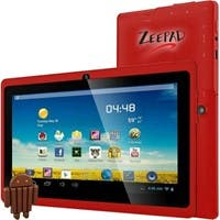 "Zeepad 7DRK-Q 4 GB Tablet - 7"" - Wireless LAN - Allwinner Cortex A7 A33 Quad-core (4 Core) 1.80 GHz - Red - 512 MB DDR3 SDRAM RAM - Android 4.4 KitKat - Slate - 800 x 480"