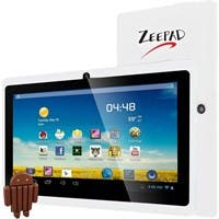 "Zeepad 7DRK-Q 4 GB Tablet - 7"" - Wireless LAN - Allwinner Cortex A7 A33 Quad-core (4 Core) 1.80 GHz - White - 512 MB DDR3 SDRAM RAM - Android 4.4 KitKat - Slate - 800 x 480"