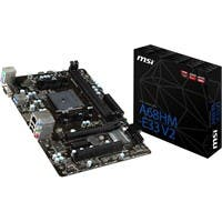 MSI A68HM-E33 V2 Desktop Motherboard - AMD A68 Chipset - Socket FM2+ - Micro ATX - 1 x Processor Support - 32 MB DDR3 SDRAM Maximum RAM - 2.13 GHz O.C. Memory Speed Supported - DIMM - 2 x Memory Slots