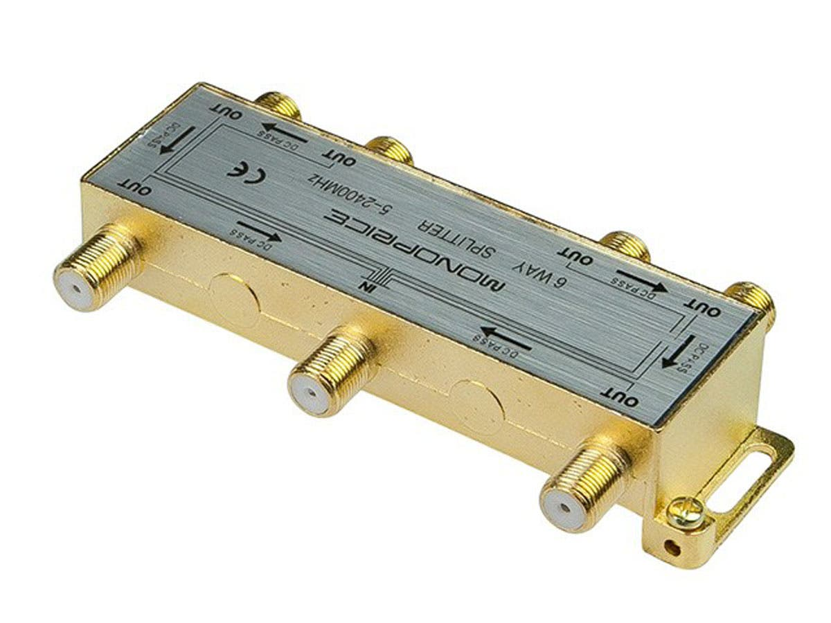 Monoprice 6-Way Coaxial Splitter - Monoprice com