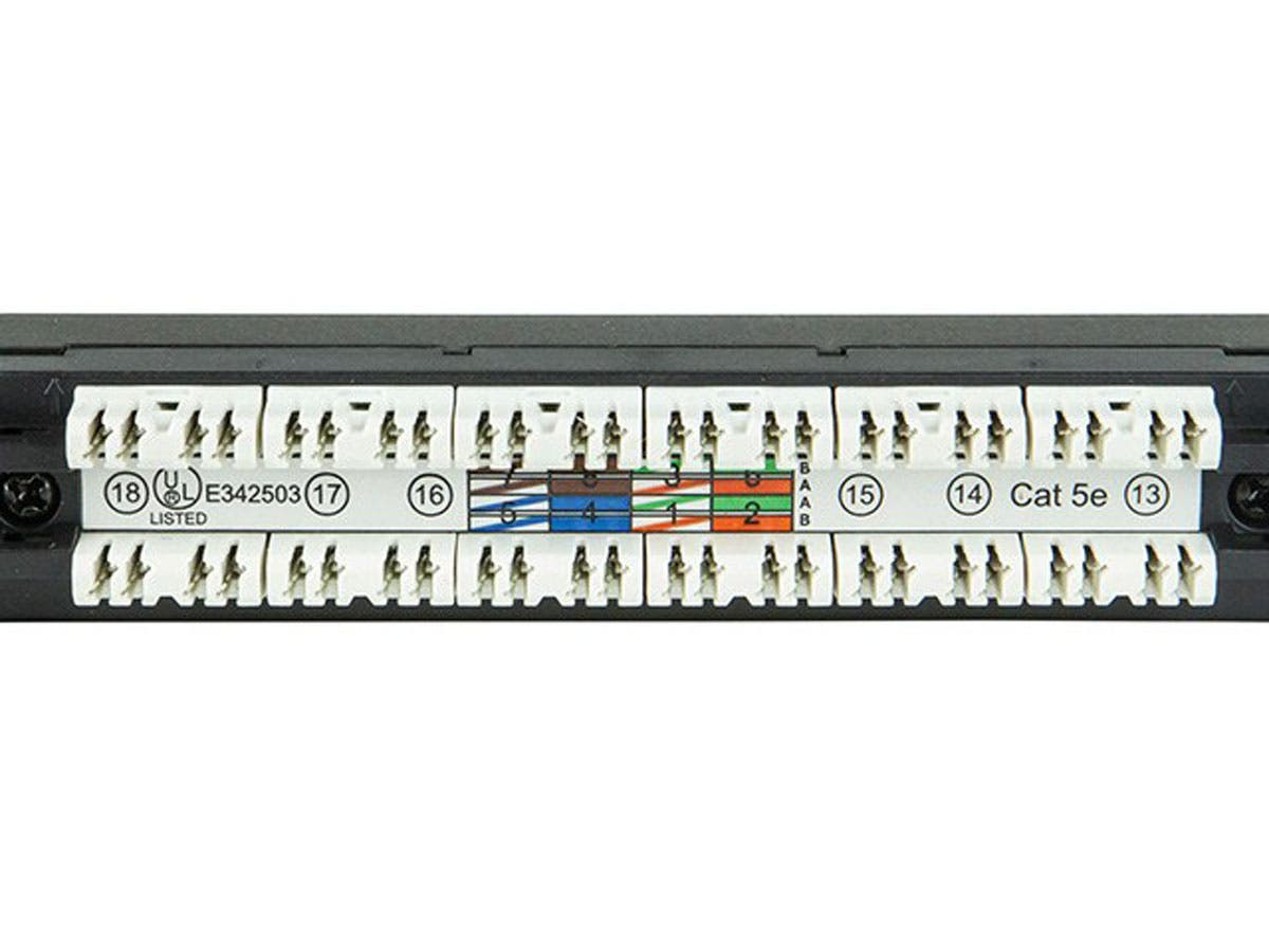 Audio Patch Panel Wiring Diagram Library Cat5e Module Monoprice Spacesaver 19 Inch Half U Utp 24 Ports Dual