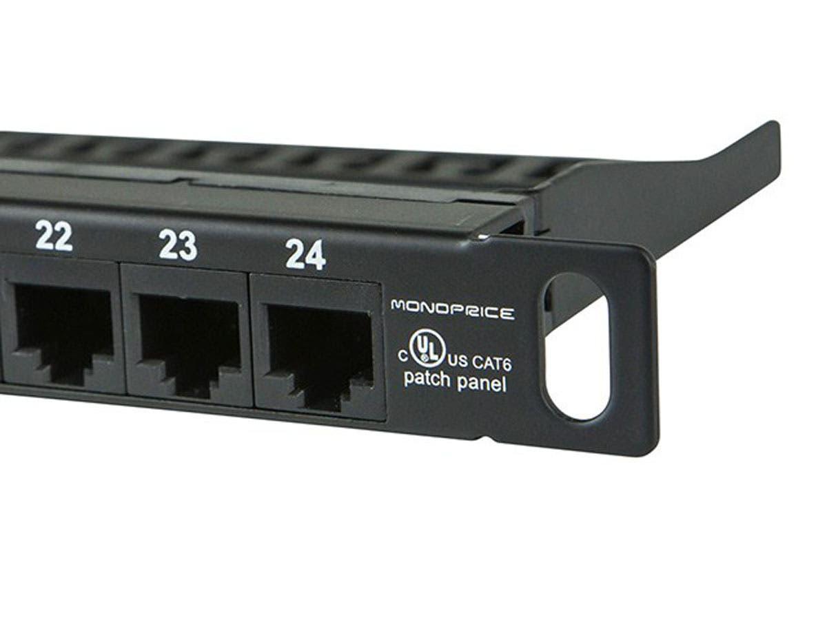 Monoprice Spacesaver 19 Inch Half U Utp Cat6 Patch Panel 24 Ports T568b Wiring Diagram Dual
