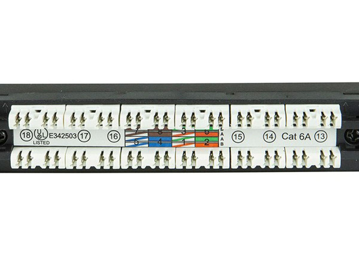 Monoprice Spacesaver 19 Inch Half U Utp Cat6a Patch Panel 24 Ports Cat5e Cat6 Plenum Rated Cable Lock Assembly Desa Circuit Electronica Dual