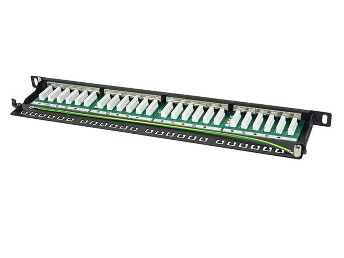 Monoprice Spacesaver 19 Half U Shielded Cat6 Patch Panel 24 Ports Wiring Diagram Dual