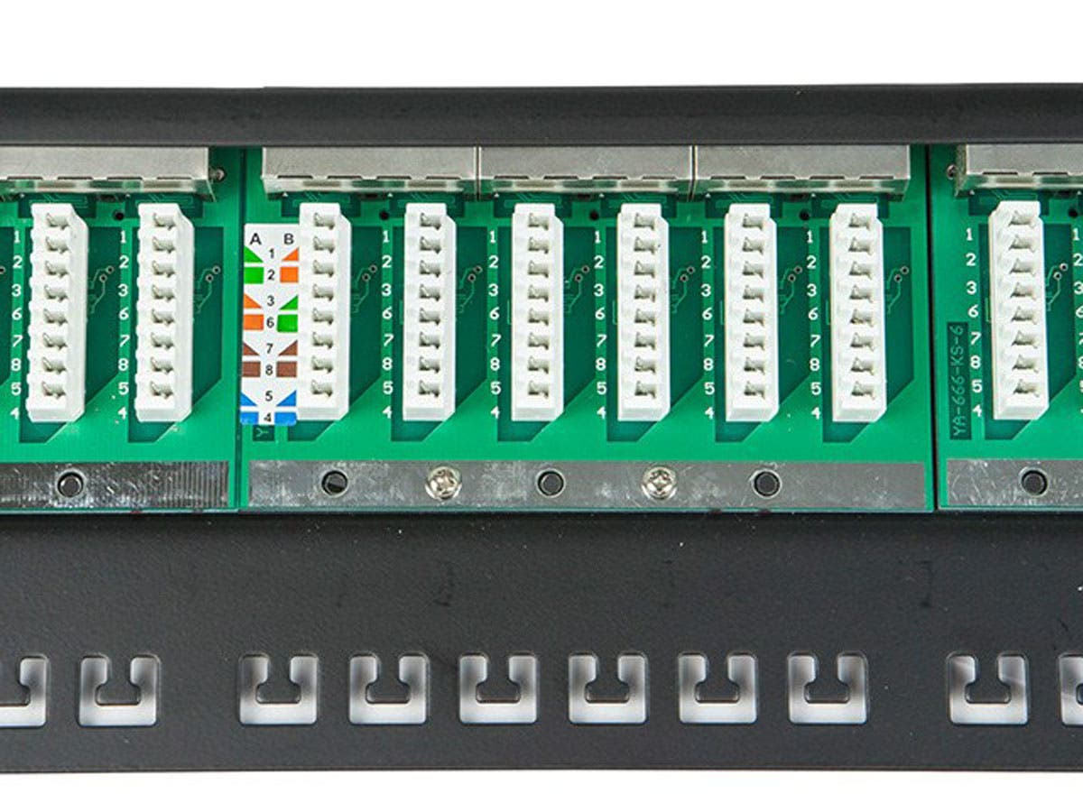 T568a Wiring Patch Board Wire Center T568b To Usb Diagram Monoprice Spacesaver 19 Half U Shielded Cat6 Panel 24 Ports Rh Com Micro