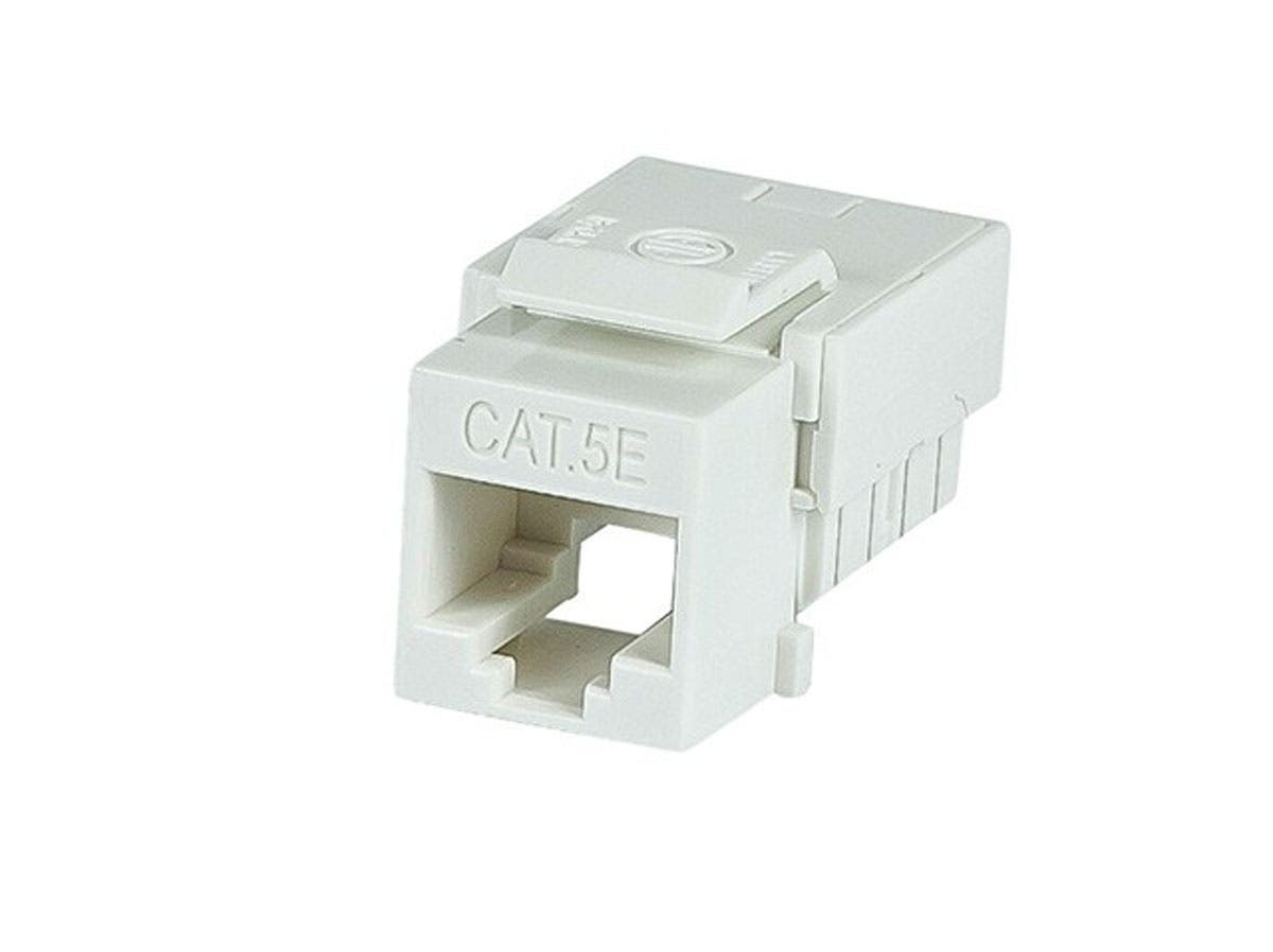 Slim Cat5e Punch Down Keystone Jack, White