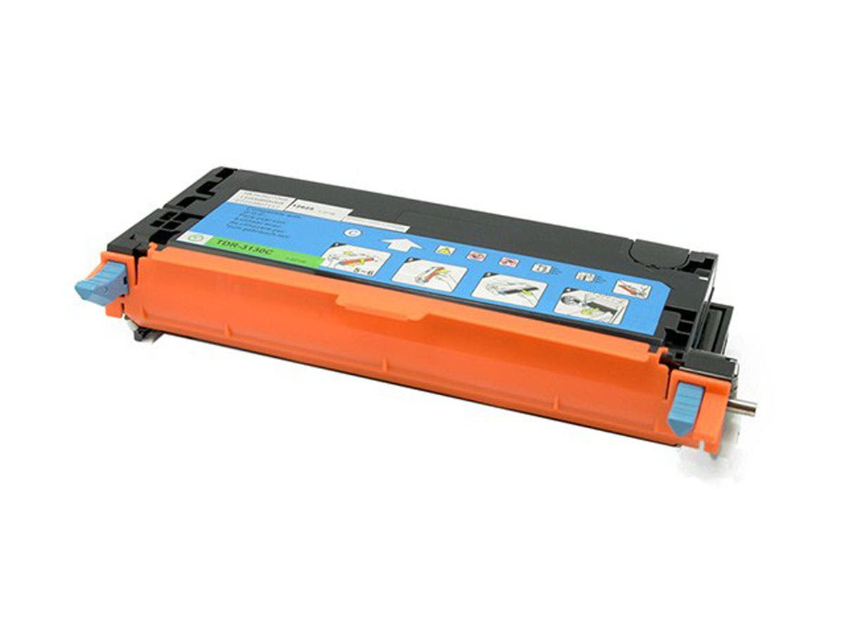 Monoprice Compatible Dell 3130C (330-1199) Laser Toner - Cyan-Large-Image-1